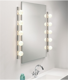 Dressing Room Mirror Light - Opal Glass Globes