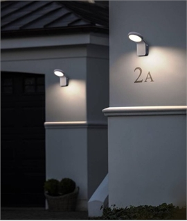 Exterior LED Twilight Flat Plate Wall Light