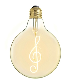 E27 125mm Decorative Treble Cleft LED Filament Lamp - 4W