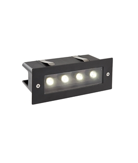 Bright LED Brick Standard Size Light - Black Finish