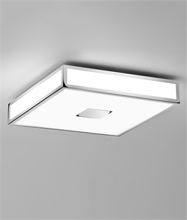 Art Deco LED Ceiling or Wall Light - Emergency Option