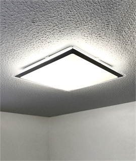 Large Low Profile Square Energy-Saving Acrylic & Steel Ceiling Light