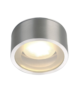 Compact Round Ceiling Light with Opal Glass Diffuser
