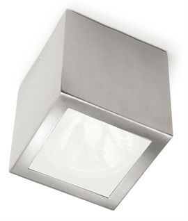 Simple Square Stainless Steel IP44 Rated Downlight