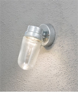 Modern Exterior LED Wall Light With Bell Jar Glass