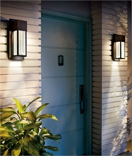 Bronze & Glass LED Outdoor Wall Light IP44