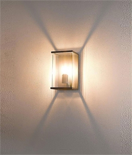 Exterior Clear Box Light Height 300mm