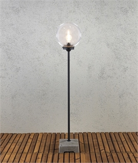 Exterior Floor Lamp with Globe Shade