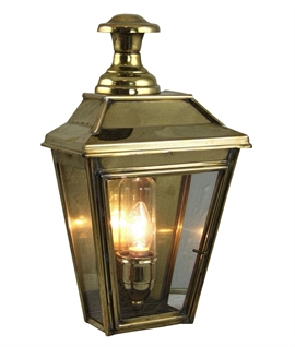 Flush Wall Lantern with IP44 Rating