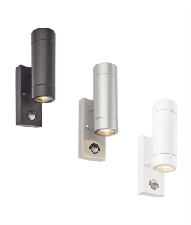Exterior Budget Up and Down Wall Light - PIR Over-Ride
