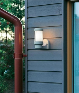 Modern Exterior Bracket Wall Light in Two Finishes