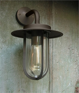External Wall Lights Chrome : On Trend Vintage Style Wall Lantern
