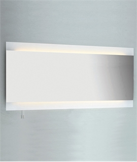 Wide Illuminated Bathroom Mirror With Backlit Effect For