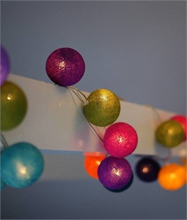 Mexican Bright Coloured Ball Lights