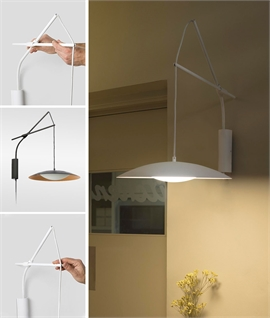 Adjustable Hanging LED Wall Light with Slim Shade