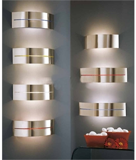 Nickel Matt Wall Light with Foil Options