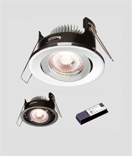 Adjustable Low Profile Advanced LED Fire Rated Downlight IP65