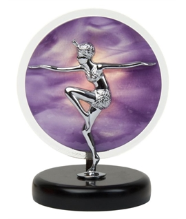 Flapper Girl Table Light - Purple Glass