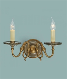 Flemish Double Arm Wall Light