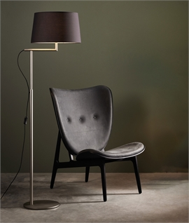 Off-Set Floor Lamp - 3 Finishes & 4 Shades