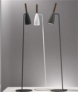 Floor Reading Light in 3 colours with Oiled Walnut Detail