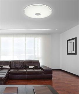 Sparkle Diffused Flush Ceiling Light - Warm to Daylight White