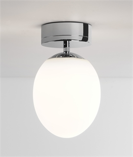 Opal Egg Design Bathroom Ceiling Light With LED Lamp