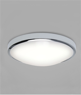 Dished Light for Wall or Ceiling - Bathroom Safe