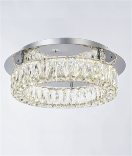 Crystal & Chrome Flush LED Light