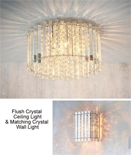 Pretty Clear Crystal Rod & Droplet Flush Light