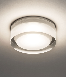 Compact Recessed LED Ceiling Light for Bathroom Use