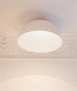 Contemporary Flush Mounted Light - Semi-Transparent Reflector