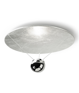 Flush Mounted Circular Light with Suspended Ball