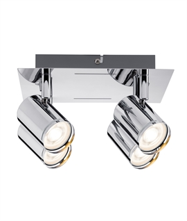 Polished Chrome 4 Light Square Ceiling Plate