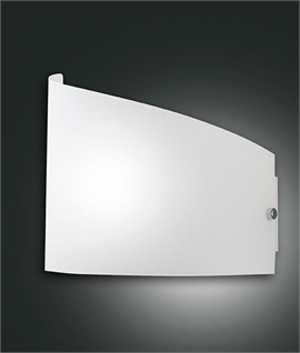 Modern Aysmmetric Frosted Glass Wall Light