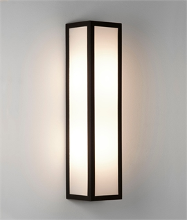 Outdoor Flush Wall Light with Frosted Glass Diffuser