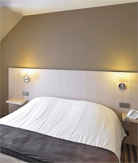 Chrome Wall Light & Frosted Glass Shade