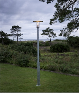 Raw Galvanised Exterior Lamp Post H:2200mm