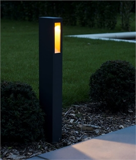 Exterior LED Anthracite Bollard with Copper Reflector