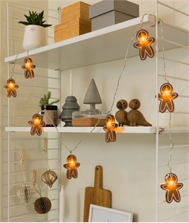 Gingerbread String Lights with LED Lamps