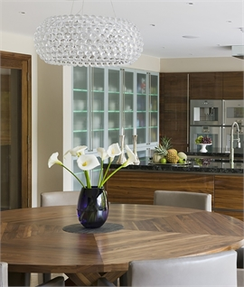 Acrylic Ball & Glass Shade Pendant - 3 Sizes
