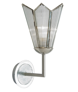 Art Deco Reeded Glass Bracket Wall Light