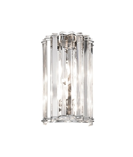 Chrome and Crystal Bathroom Wall Light
