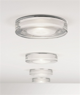 Mains Recessed Decorative Glass Downlight IP65