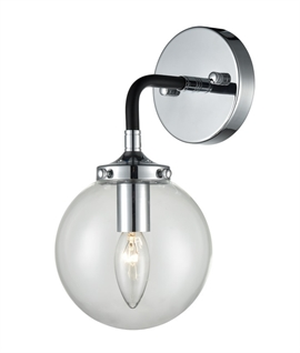 Wall Light with Glass Globe Shade