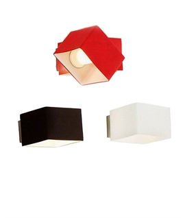 Cube Glass Up & Down Wall Light - Can be Swivelled