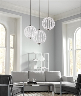 Throughly Modern LED Crystal Pendant Lights