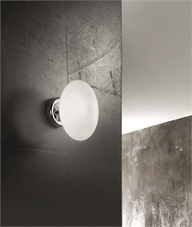 Bulbous Chrome & Glass Wall Light