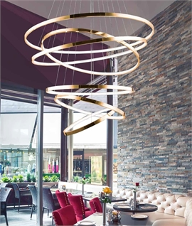 Dazzling LED Suspended Light with Concentric Circles