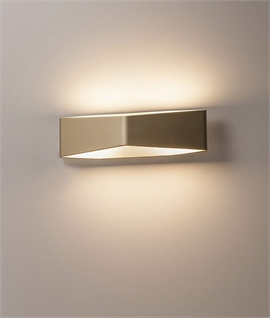 Modern Triangular Up & Down Wall Light - Gold or White